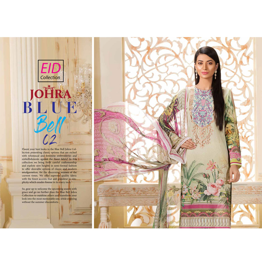 Johra Blue Bell Eid Collection 2019