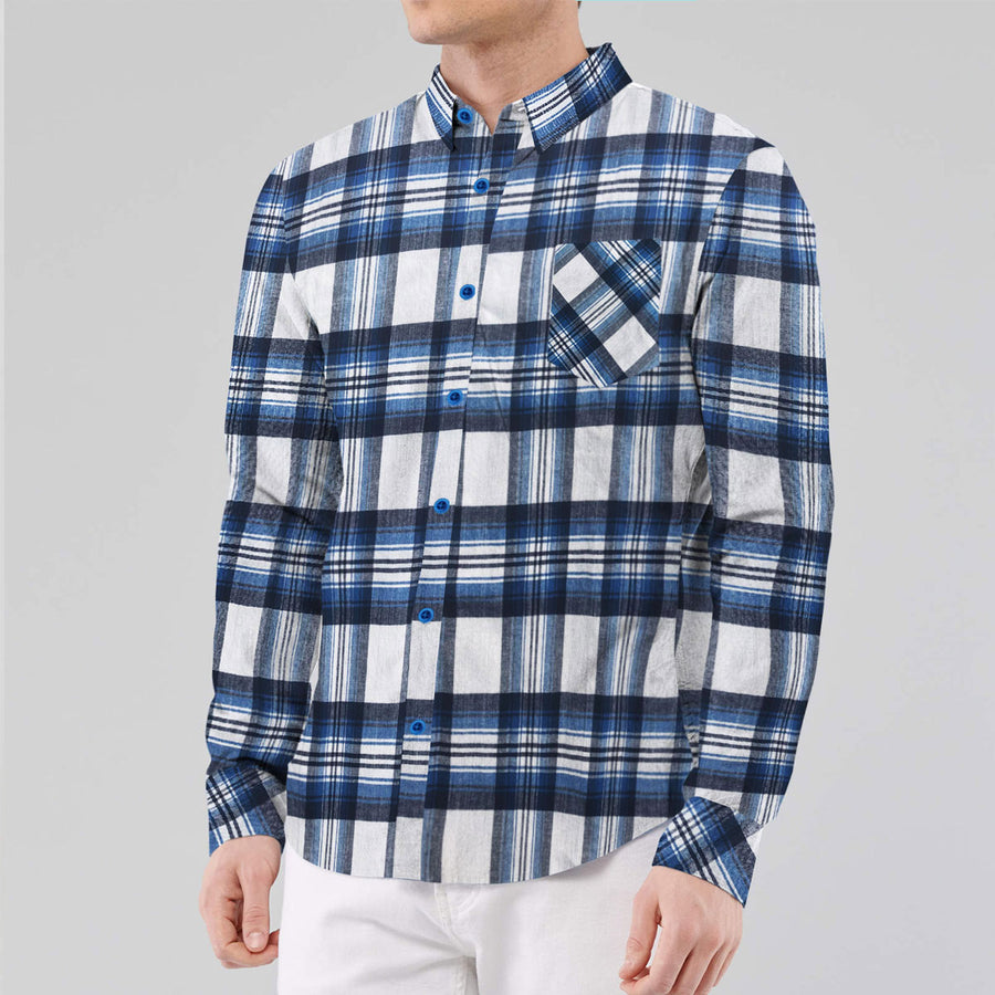 S/H Check Style Casual Shirt