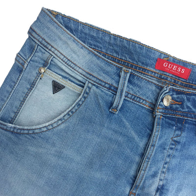 GUESS FADED LIGHT BLUE DENIM PANT For Men