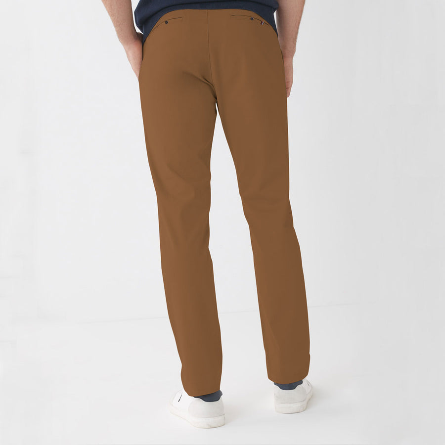 ZR MAN BROWN NARROW COTTON PANT