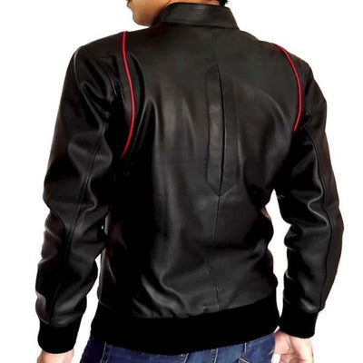 Mens Slim Fit Leather jacket BR1