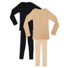Espico Pack of 2 Thermal Suit for Women Skin & Black