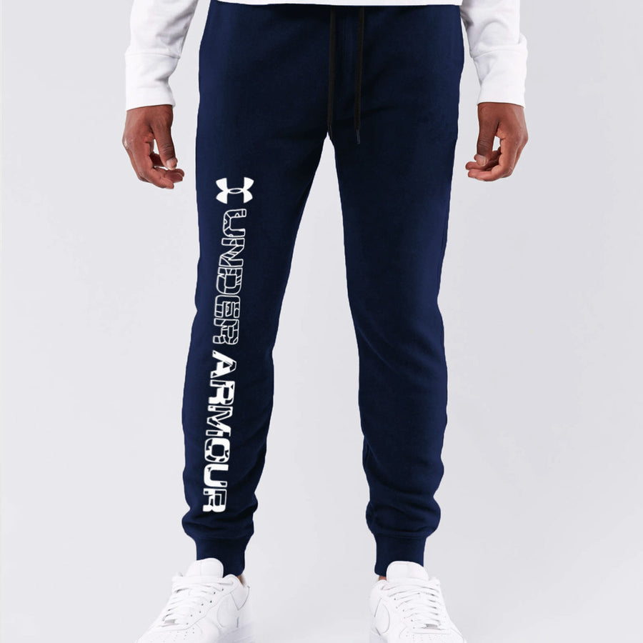 UA MEN CLOSE BOTTOM NAVY JOGGER
