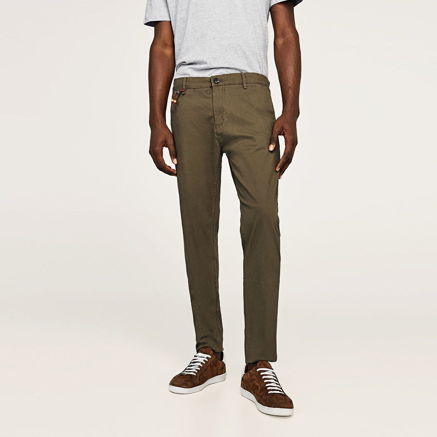 ZARA SLIM FIT COTTON PANT