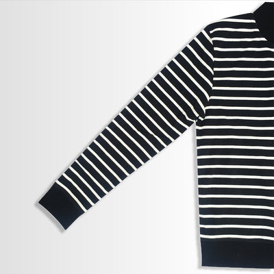 Black & White Strapped Sweat Shirt for Men