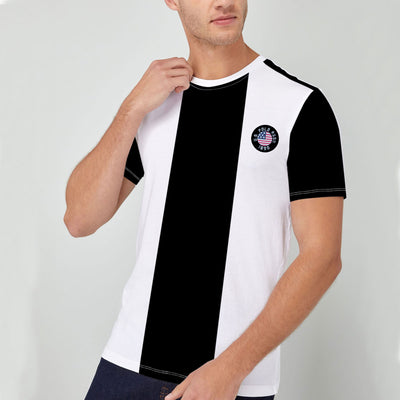 Elegant White & Black T-Shirt For Men
