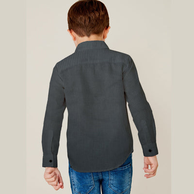 Prime Gray Boy's Unique Casual Shirt