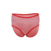 Espico Mixed Cotton Pack of 3 Line Briefs for Women Black-Red-Black