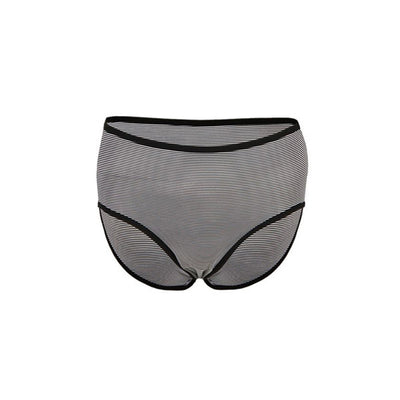 Espico Mixed Cotton Pack of 3 Line Briefs for Women Black-Grey-Black