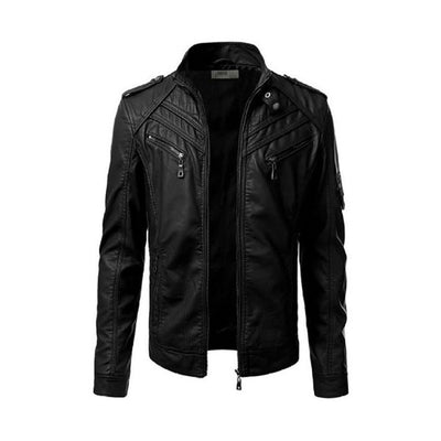 Mens Slim Fit Pu JACKET M2
