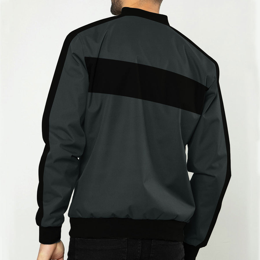 Men Designer Poly Fleece Zipper Jacket