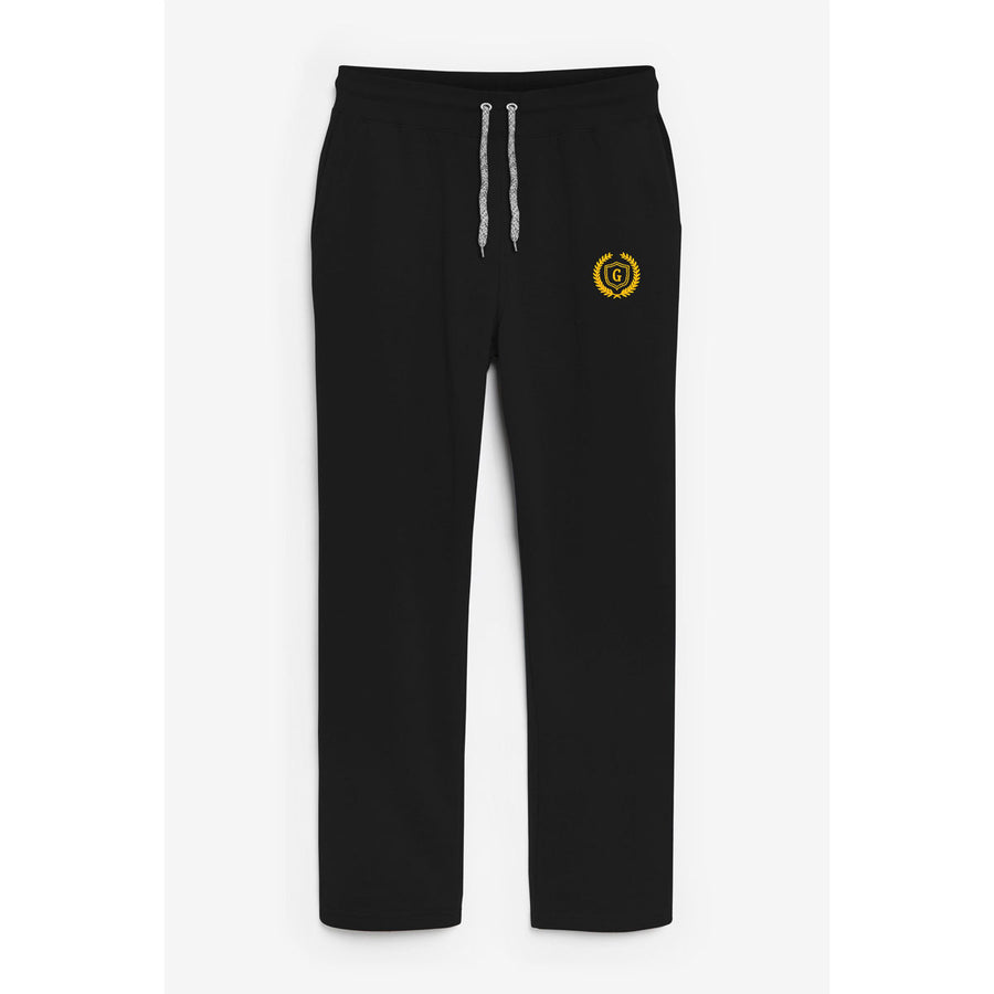 Men Signature Black Emb Trouser