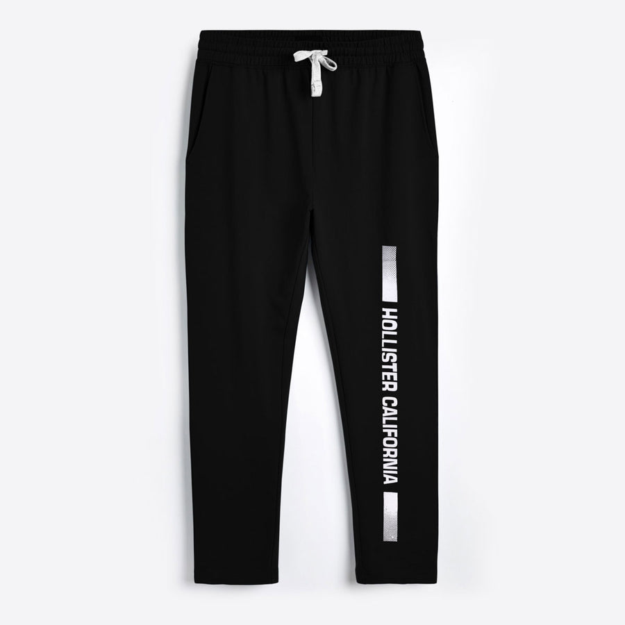 HLSTR Sharp Black Printed Summer Trouser