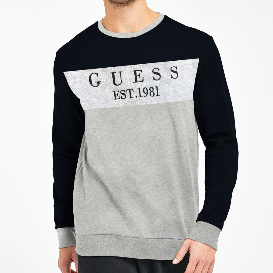 GS CONTRAST PANEL EMB SIGNATURE SWEAT SHIRT