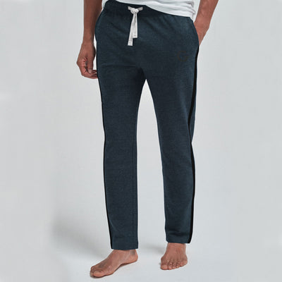 Elegant Gray Contrast Panel Trouser