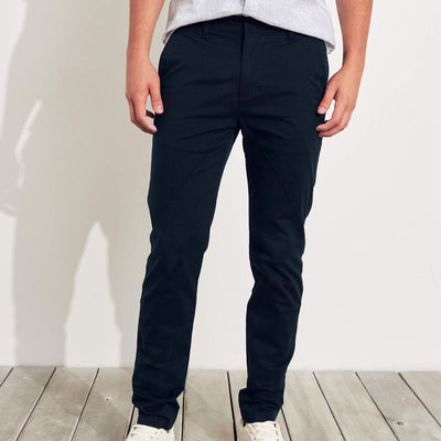 Resrve Navy Cotton Pant Style Stretch Trouser for Men