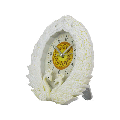 White Peacock Decoration Clock
