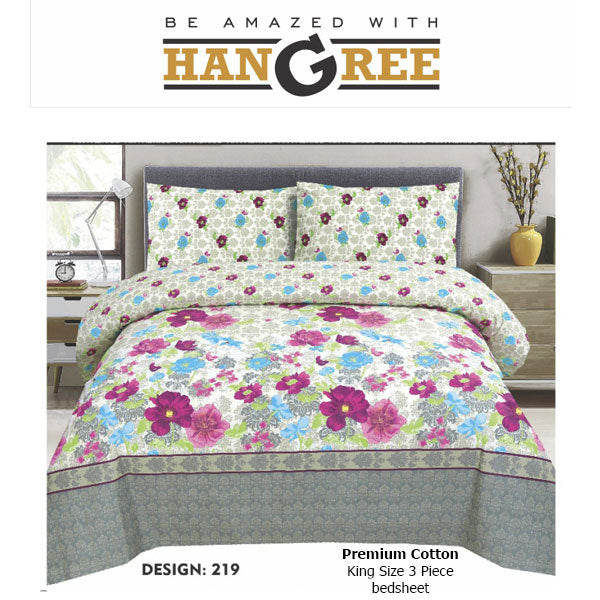 HANGREE PREMIUM COTTON BED SHEET
