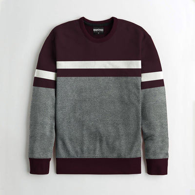 Yarn Dyed Fleece Combo Sweat Shirt