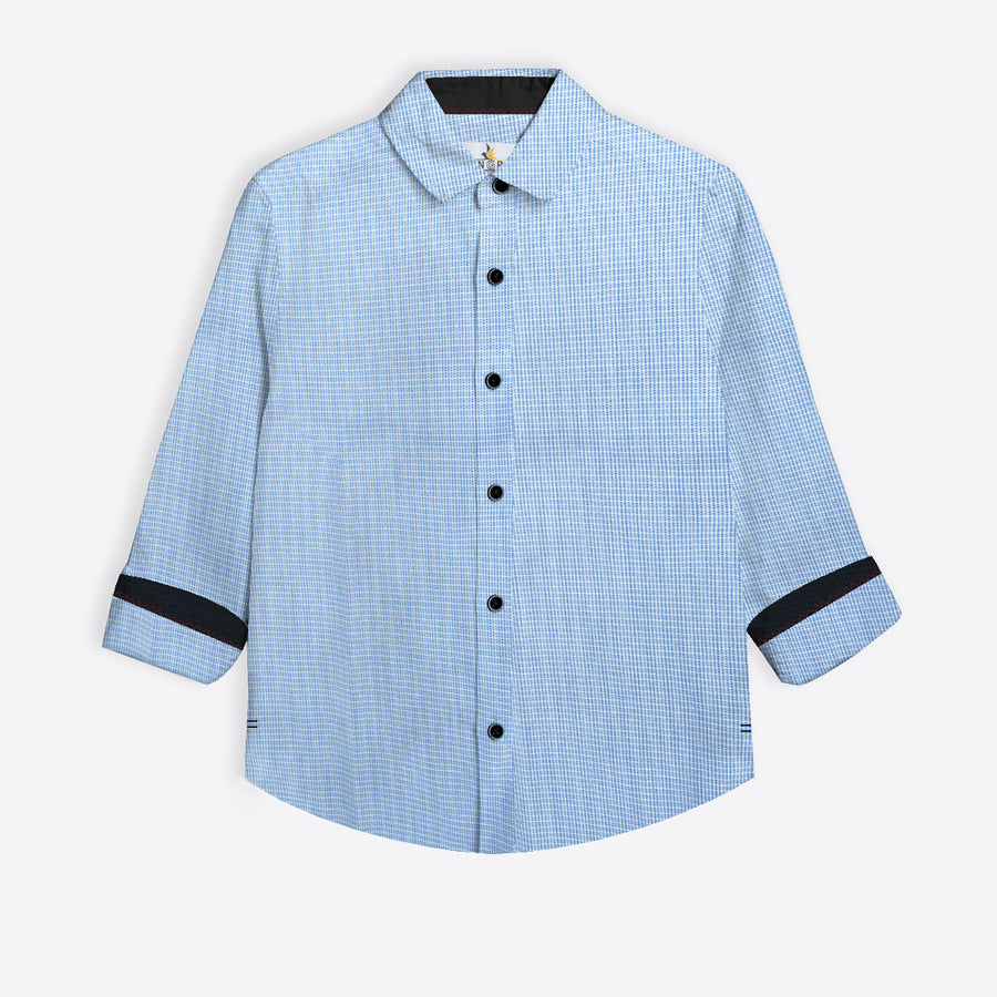 Lavish Blue Boy's Casual Shirt