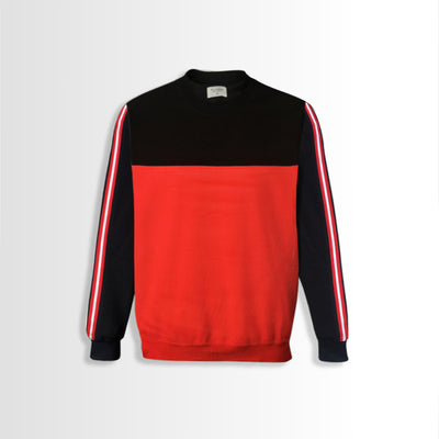 Men Black & Red Sweat Shirt