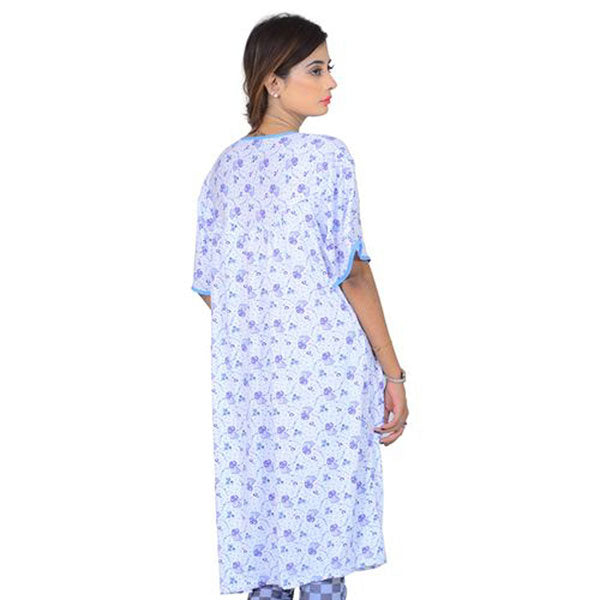 Espico Cotton Soft Nighty For Women Blue