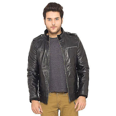 PU Leather Jacket For Men D2