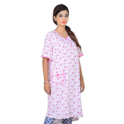 Espico Cotton Soft Nighty For Women Pink