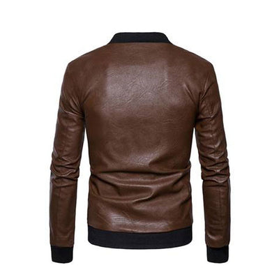 PU Leather Jacket For Men M11