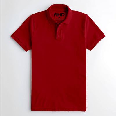 Elegant Red Polo Shirt for Men