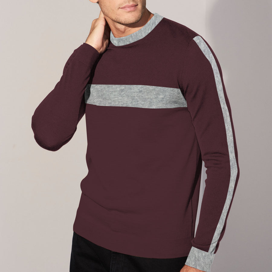Burgundy Patch Style Sweat Shirt
