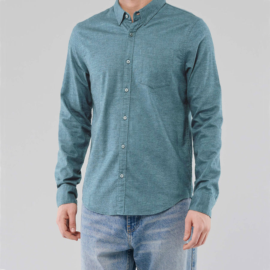 Light Sea Green Supper Solid Casual Shirt