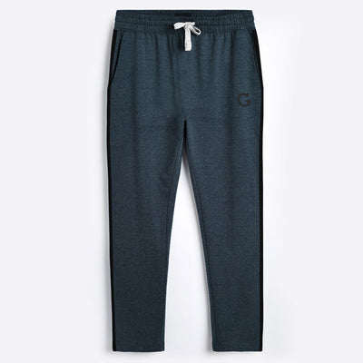 Elegant Gray Contrast Panel Trouser for Men