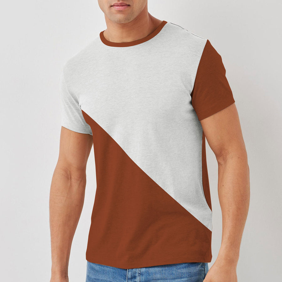 HG EXCLUSIVE CONTRAST PANEL TEE SHIRT