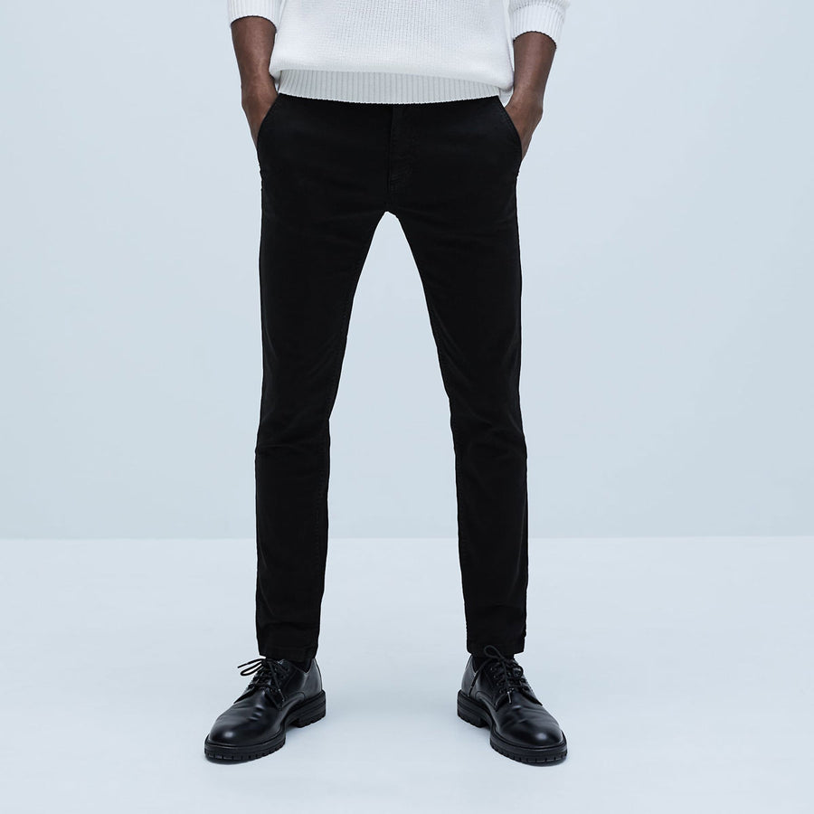 NW LOK SHARP BLACK COTTON PANT