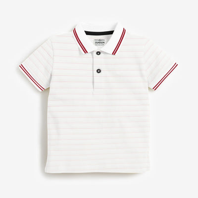 Boys Yarn dyed Tipping Collar Polo Shirt