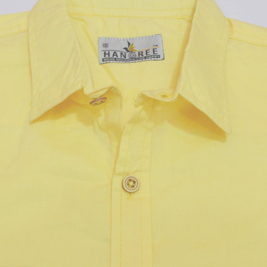 Bright Yellow Casual Shirt