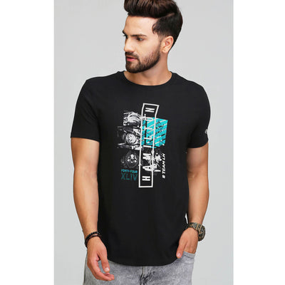 HAMILTON GRAPHIC PRINTED MERCEDZ BLACK T SHIRT