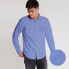 Gabriel Slim Printed Royal Casual Shirt