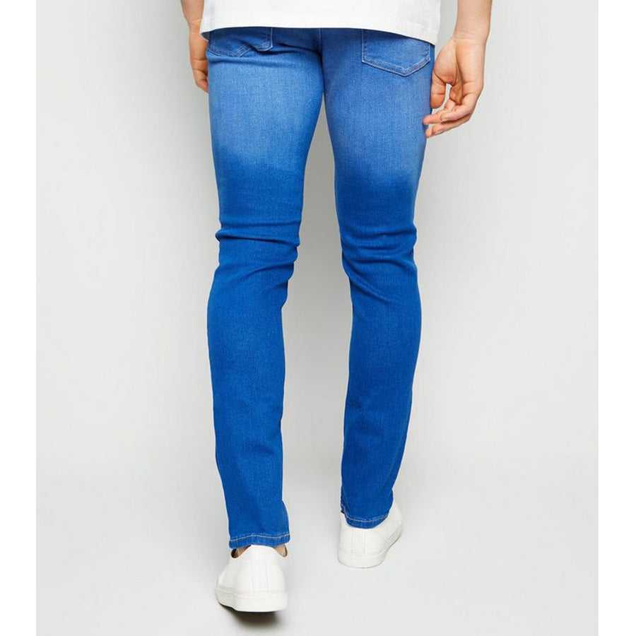 NW LOOK MID WASH BLUE SKINY STRETCH JEANS