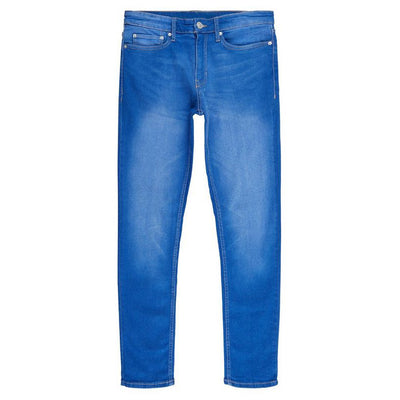 NW LOOK MID WASH BLUE SKINNY STRETCH JEANS
