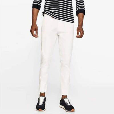 ZARA SLIM FIT White COTTON PANT