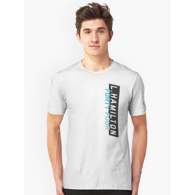 MERCEDZ NAME PRINTED WHITE T SHIRT