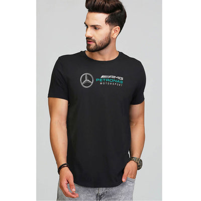 MERCEDZ PRINTED BLACK T SHIRT