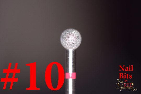 "Diamond Nail Bit ""Ball #10"" - 5mm (Small Grain)"