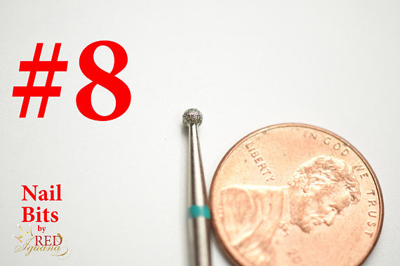 "Diamond Nail Bit ""Ball #8"" - 2.3mm"