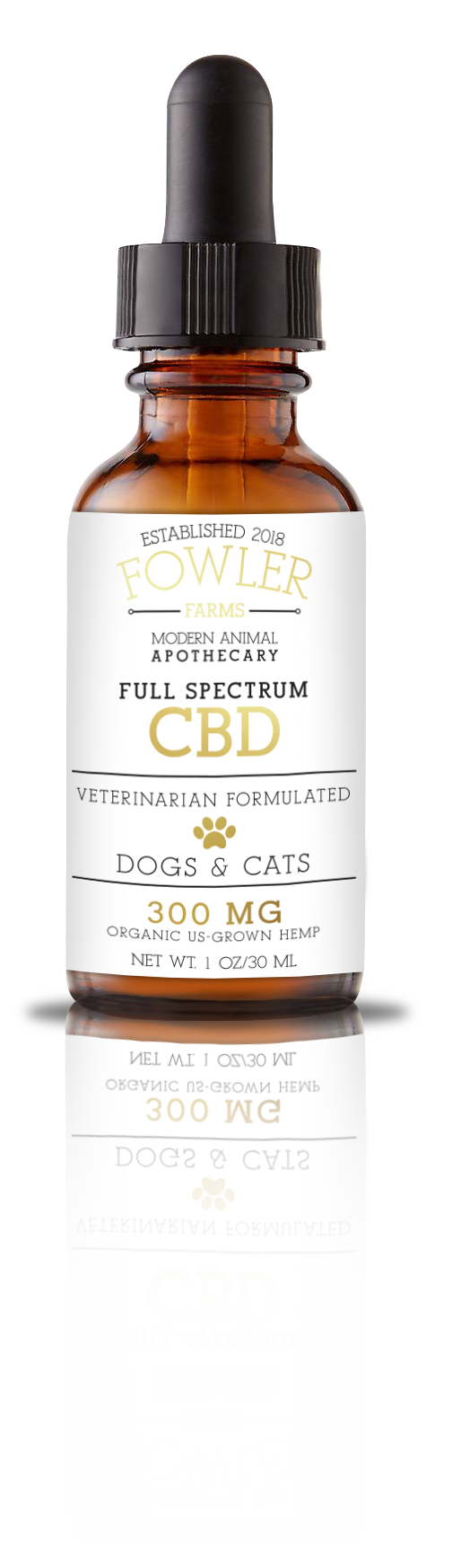 Full Spectrum CBD for Dogs Cats – 300 MG