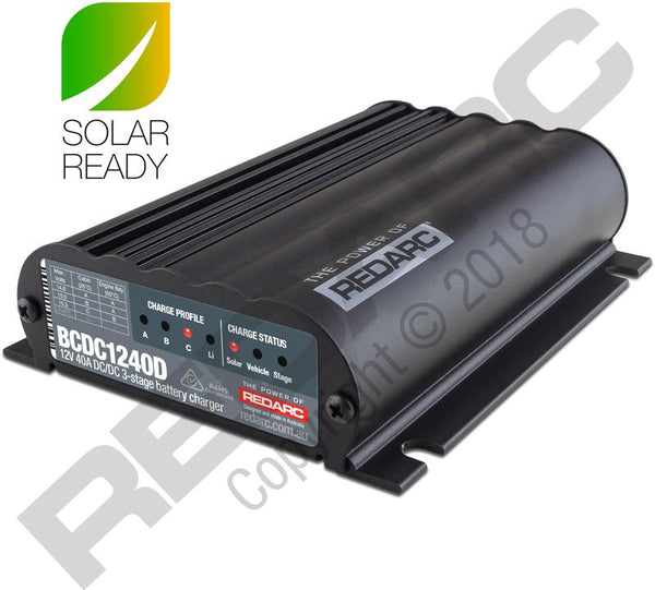 4thD Solar Redarc DUAL INPUT 40A IN-VEHICLE DC BATTERY CHARGER BCDC1240D, 12/24V Devices,4thDsolar