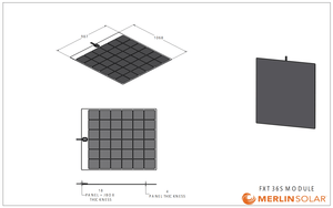 FX36S 165 Watt Solar Panel- Low Profile Junction - 4thDsolar