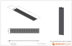 FX24L 110 Watt Solar Panel- Back Side Junction - 4thDsolar